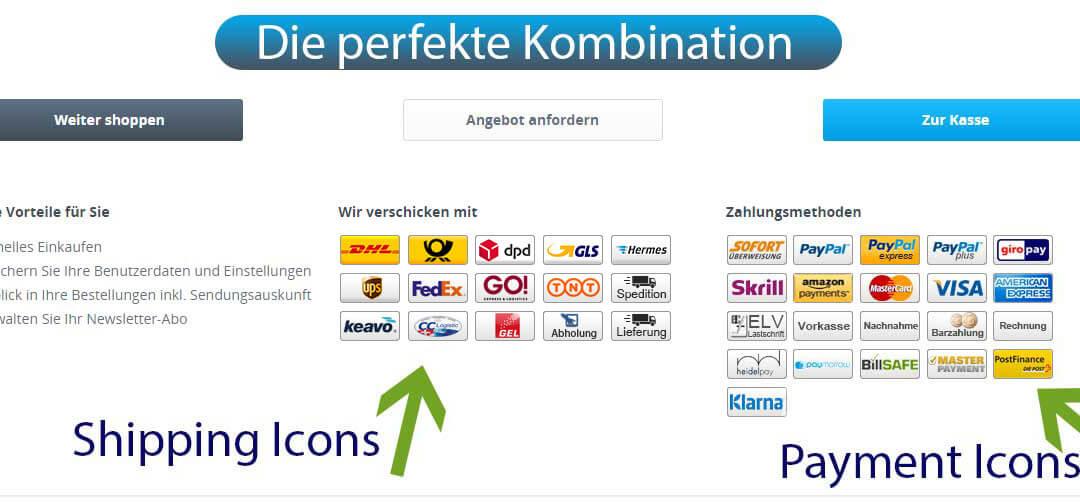 "Plugin ""Versand-Logos / Shipping Icons"" Ihre Versandanbieter-Logos"