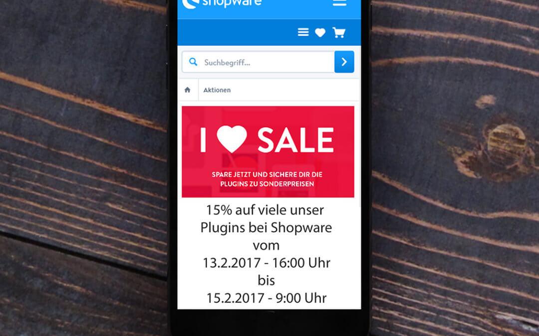 i love my shop – 15% Rabatt zum Valentinstag